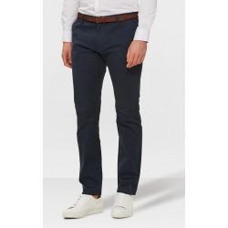 Pantalon chino bleu gris